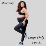 Wholesale women s Maternity Active Buttery Soft Workout Leggings Pack Large ONLY