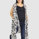 Wholesale women s Lightweight Animal Print Vest One fits most L Polyester