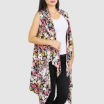 Wholesale women s Lightweight Floral Print Vest One fits most L Polyester