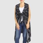 Wholesale women s Lightweight Geometric Dot Print Vest One fits most L Polyester