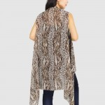 Wholesale women s Lightweight Animal Print Vest Cover Up One fits most Polyester