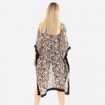 Wholesale women s Lightweight Tiger Stripe Kimono One fits most Polyester