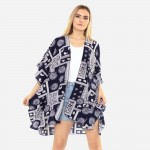 Wholesale women s Lightweight Paisley Damask Print Kimono One fits most Polyeste