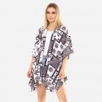 Wholesale women s Lightweight Paisley Damask Print Kimono One fits most Polyeste