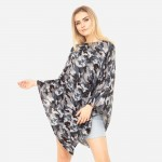 Wholesale women s Lightweight Camouflage Print Poncho One fits most Polyester Sp