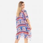 Wholesale women s Lightweight Sheer Americana Aztec Print Kimono One fits most P