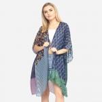 Wholesale women s Lightweight Geometric Print Kimono One fits most Polyester