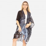 Wholesale women s Lightweight Geometric Floral Print Kimono One fits most Polyes