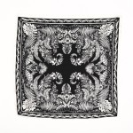 Wholesale ladies Tropical Floral Print Neckerchief Polyester
