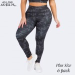 Wholesale women s Active Plus Dark Camouflage Athletic Leggings o Elasticized ri