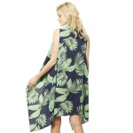 Wholesale women s Lightweight Tropical Palm Leaf Vest One fits most L Polyester