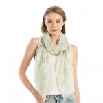 Wholesale women s Lightweight St Patricks Clover Print Scarf W L Polyester