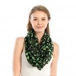 Wholesale women s Lightweight St Patricks Day Print Infinity Scarf W L Polyester