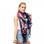 Wholesale women s Lightweight Distressed USA Scarf W L Polyester