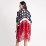 Wholesale lightweight Patriotic Themed Kimono Viscose One Fits Most
