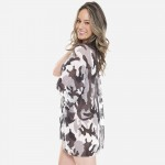 Wholesale women s Grey Camouflage Jersey Knit Kimono One fits most L Polyester