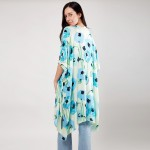 Wholesale women s Lightweight Water Color Floral Print Kimono One fits most Visc