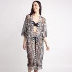 Wholesale long Lace Kimono Front Tie Closure Viscose L One Fits Most