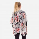Wholesale women s Lightweight Floral Velour Mesh Kimono One fits most L Nylon Ra