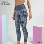 Wholesale women s Active Waisted Tie Dye Athletic Leggings pack Waistband Waistb