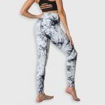 Wholesale women s Active V Waisted Tie Dye Athletic Leggings pack V Waistband De
