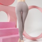 Wholesale women s Active Rise Athletic Leggings Side Pockets pack Rise Waistband