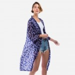 Wholesale lightweight Floral Print Kimono One Fits Most L Polyester
