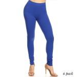 Wholesale full Leggings Rise Waistband Pack o Elasticized Rise Waistband o Fit L