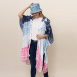 Wholesale lightweight Tie Dye Kimono One Fits Most Polyester L
