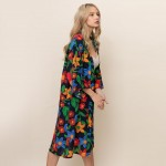 Wholesale long Floral Kimono One Fits Most Viscose L