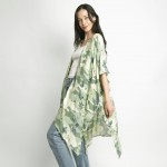 Wholesale tropical Print Lightweight Kimono Viscose One Fits Most