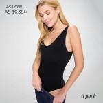 Wholesale seamless V neck Bodysuit Asymmetrical Neckline Thong Fit Remains Invis
