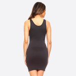 Wholesale women s Solid Seamless Traditional Tank Slip Dress Round Neckline Slee
