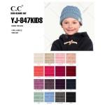 Wholesale c C YJ KIDS Kids Solid Knit Beanie One fits most Kids Acrylic