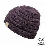 Wholesale c C YJ KIDS Kids Solid Knit Beanie One fits most Kids Acrylic