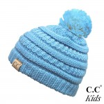 Wholesale c C YJ POM KIDS Kids Solid Knit Pom Beanie One fits most Kids Acrylic