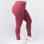 Wholesale women s Plus Mix Brand Waistband Solid Peach Skin Leggings Elastic Wai