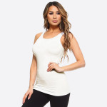 Wholesale women s Solid Color Seamless Tank Top o Round Neckline o Body con o Sl