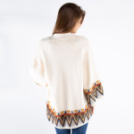Wholesale women s Aztec Print Sleeve Cardigan One fits most Viscose Nylon Polyes