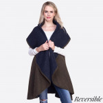 Wholesale heavyweight shawl vest acrylic One fits most