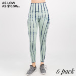 Wholesale women s Active Seamless Tie Dye Drip Workout Leggings o rise waist o T
