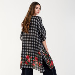 Wholesale do everything Love Brand Checkered Floral Print Kimono One fits most L