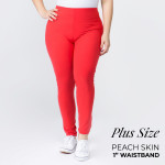 Wholesale women s Plus Mix Brand Solid Peach Skin Leggings Elastic Waistband Ful