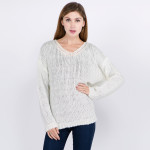 Wholesale knitted loose fitting sweater One fits most Acrylic Cotton