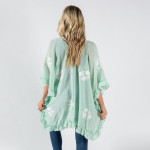 Wholesale women s Lightweight Short Floral Ruffle Kimono One fits most L Cotton