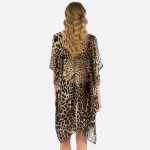 Wholesale women s Lightweight Sheer Leopard Print Kimono One fits most Polyester