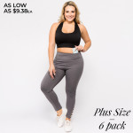 Wholesale women s Plus Active Workout Leggings Lattice Cut Ankle Detail Pack o R