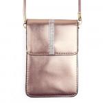 Wholesale metallic cellphone cross body bag rhinestone details inside pockets cl