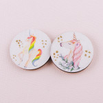 Wholesale accessorize phone grip wooden unicorn decorative peel stick charm glit