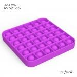 Wholesale square Push Pop Fidget Toy Assorted Colors Pack Ages Seen TikTok It s